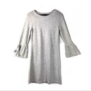 Banana republic dress xs knit gray bell sleeves